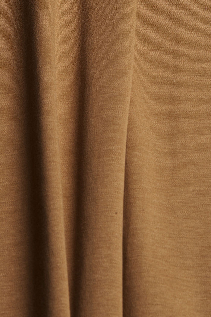 TENCEL™ blend: interlock jersey dress, BARK, detail image number 4