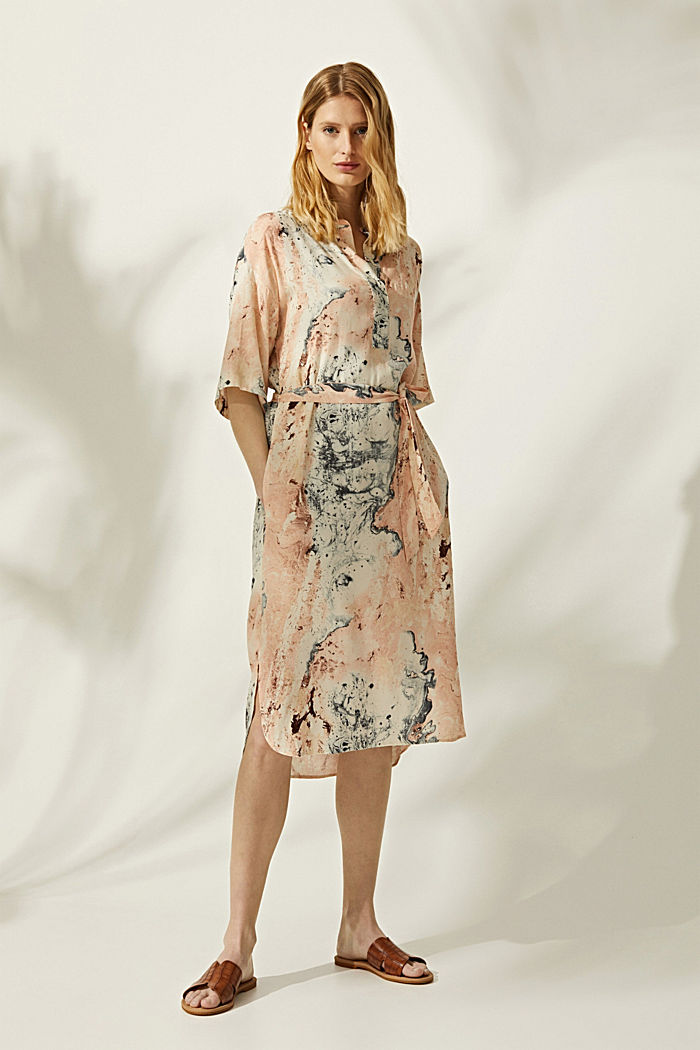 Tunic with marble print, LENZING™ ECOVERO™