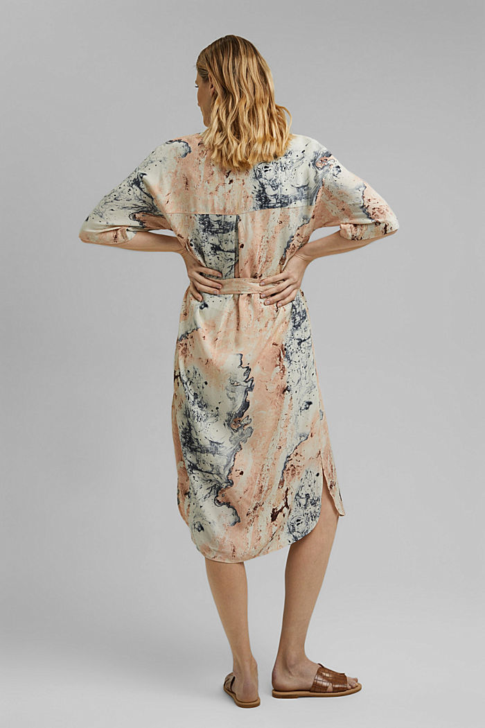 Tunic with marble print, LENZING™ ECOVERO™, DUSTY NUDE, detail image number 2