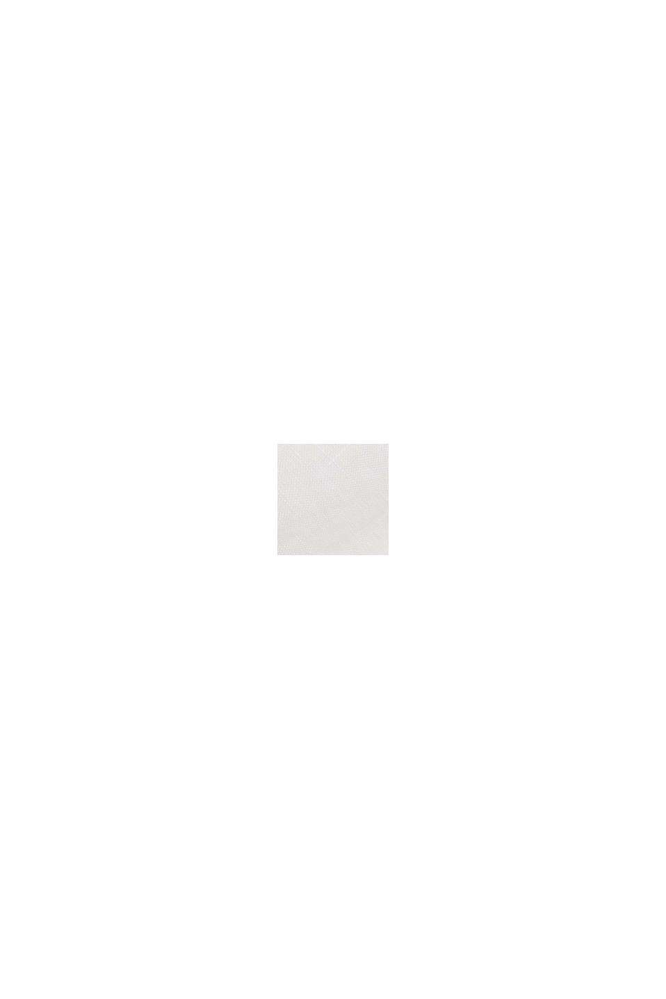 Leinen: Hemdblusenkleid mit Gürtel, WHITE, swatch