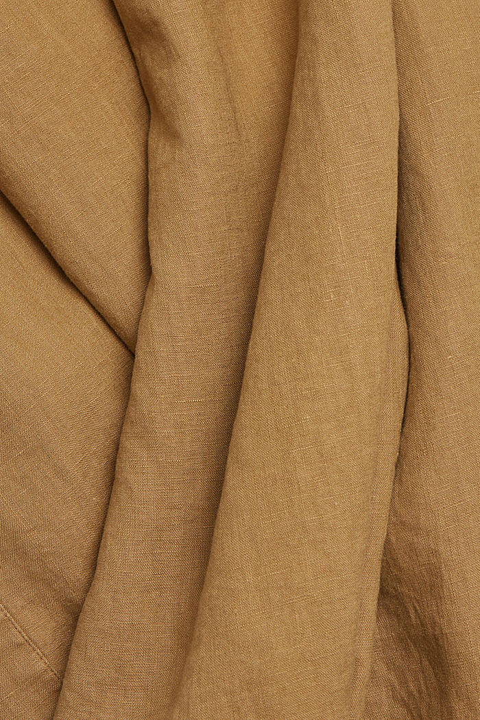 Leinen: Hemdblusenkleid mit Gürtel, BARK, detail image number 4