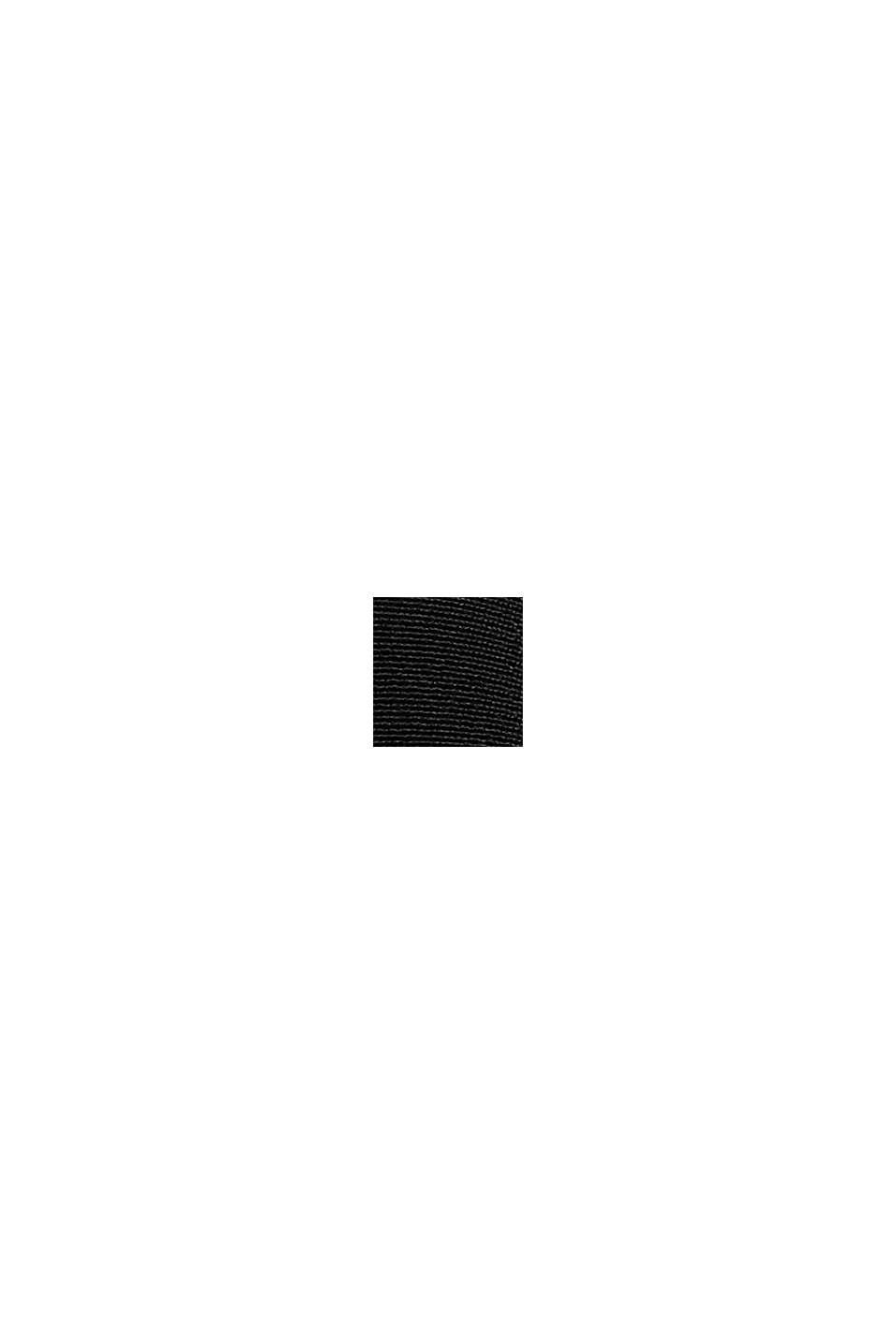 Midikleid mit Gürtel aus Baumwoll-Mix, BLACK, swatch