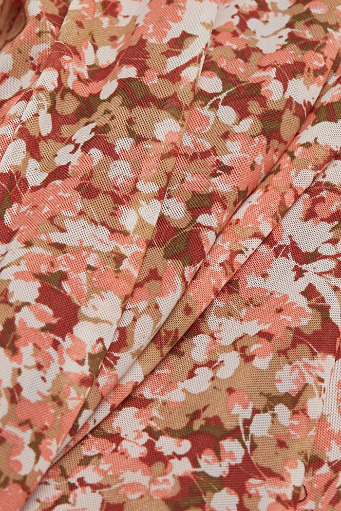 Robe en mesh à imprimé et ceinture, BARK, detail image number 4