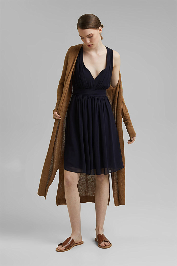 Recycled: chiffon dress with a back detail