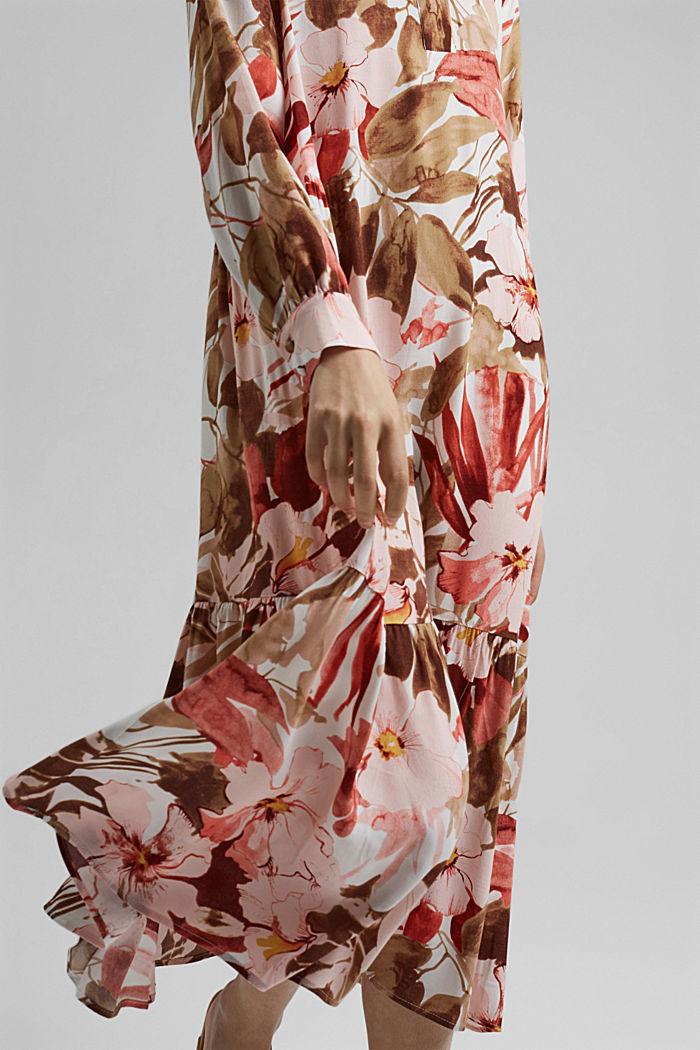 Vestido midi con estampado y LENZING™ ECOVERO™, LIGHT PINK, detail image number 3