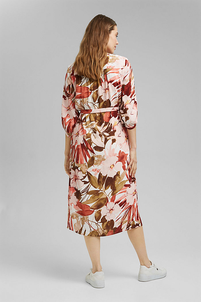LENZING™ ECOVERO™: midi dress with a belt, LIGHT PINK, detail image number 3
