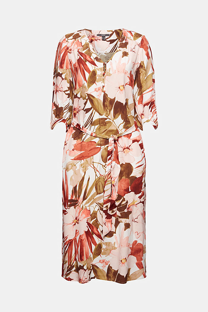 LENZING™ ECOVERO™: midi dress with a belt, LIGHT PINK, detail image number 6