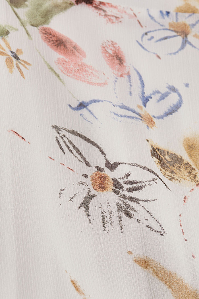 Painokuvioitu sifonkimekko, LENZING™ ECOVERO™ -materiaalia, OFF WHITE, detail image number 4