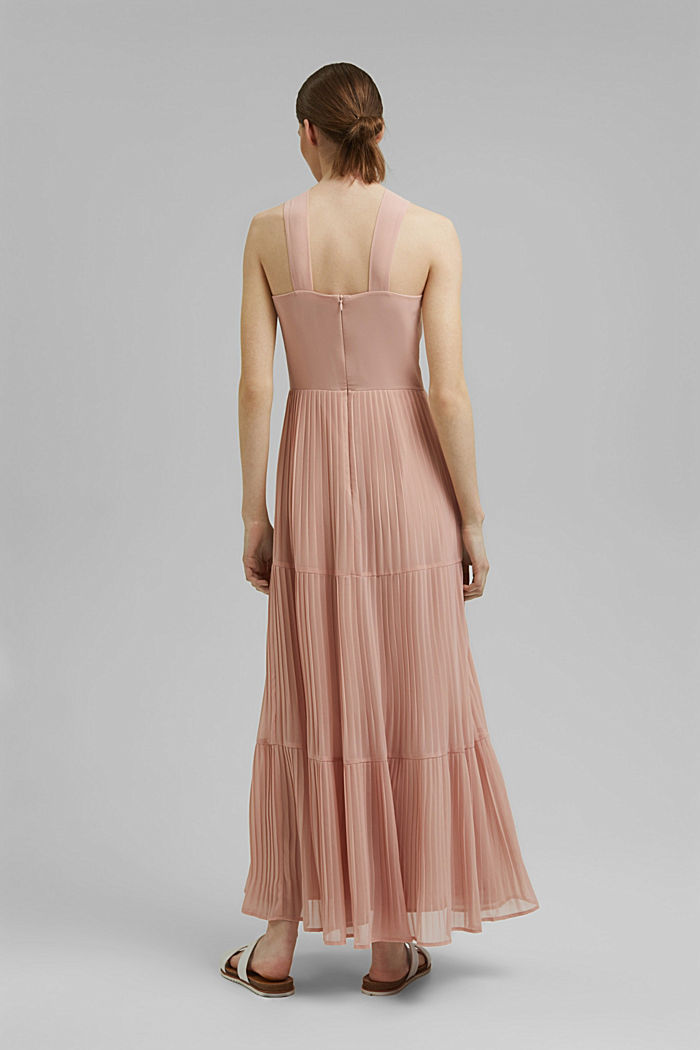 Recycled: halterneck dress with pleats, NUDE, detail image number 2