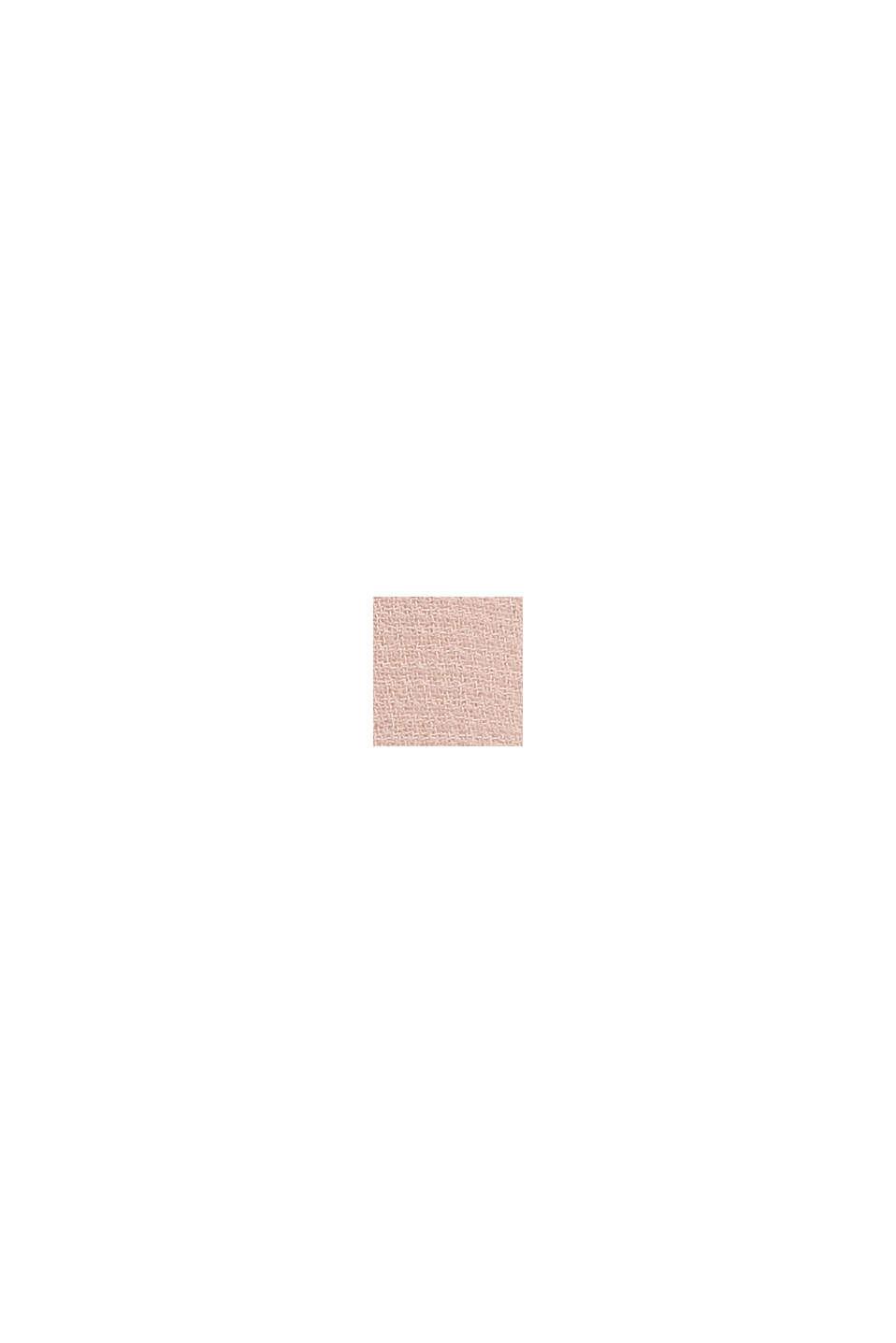 Reciclado: vestido de gasa con efecto de capas, NUDE, swatch