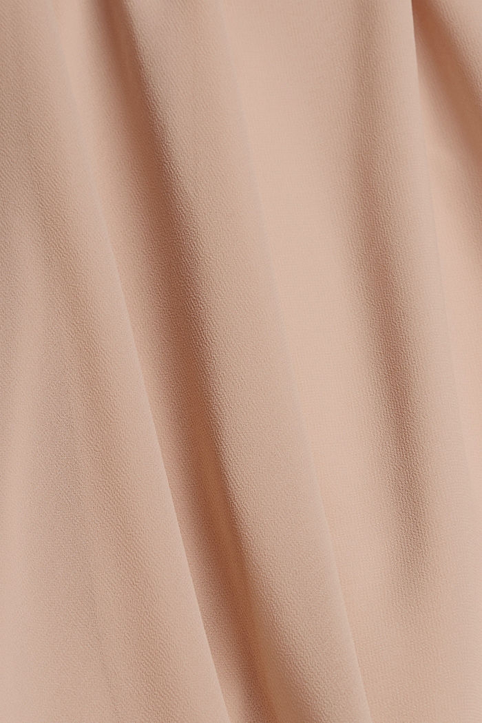 Recycled: halterneck dress with lace, NUDE, detail image number 4