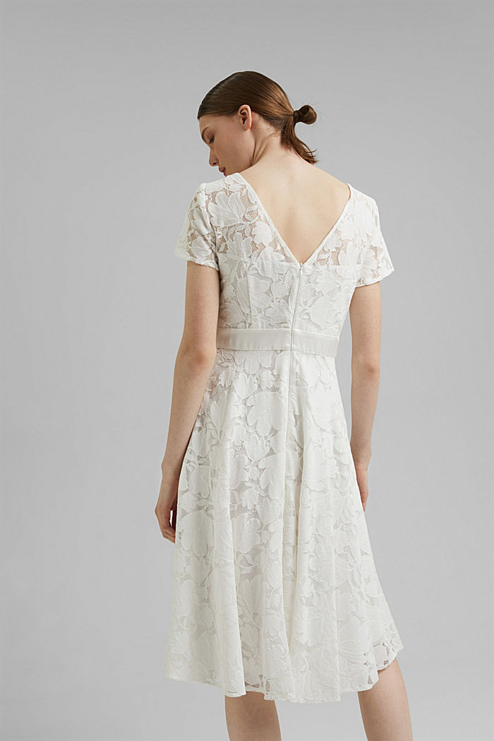 Floral lace dress, OFF WHITE, detail image number 2