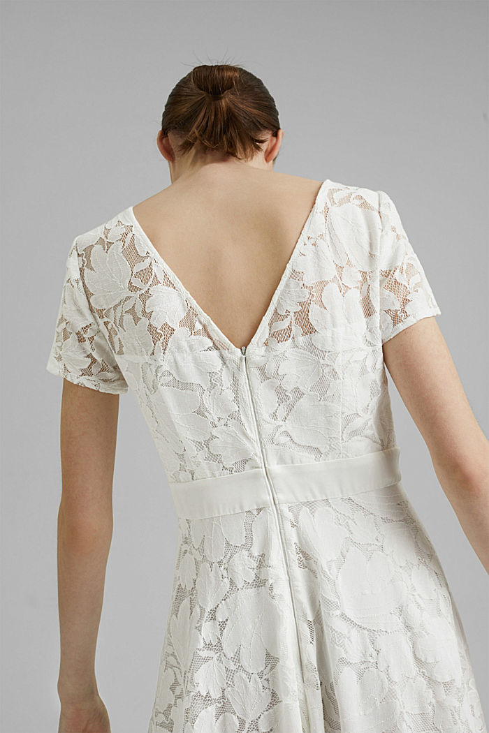 Floral lace dress, OFF WHITE, detail image number 3