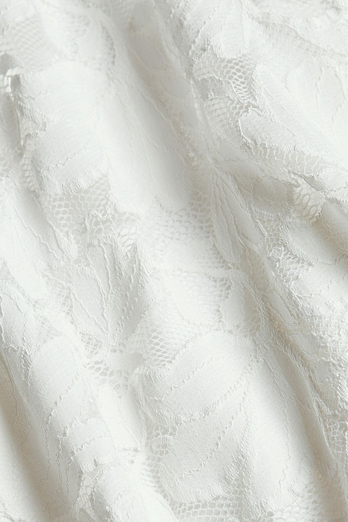 Floral lace dress, OFF WHITE, detail image number 4