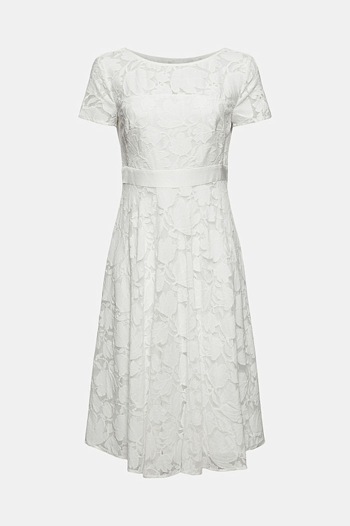 Floral lace dress, OFF WHITE, detail image number 6