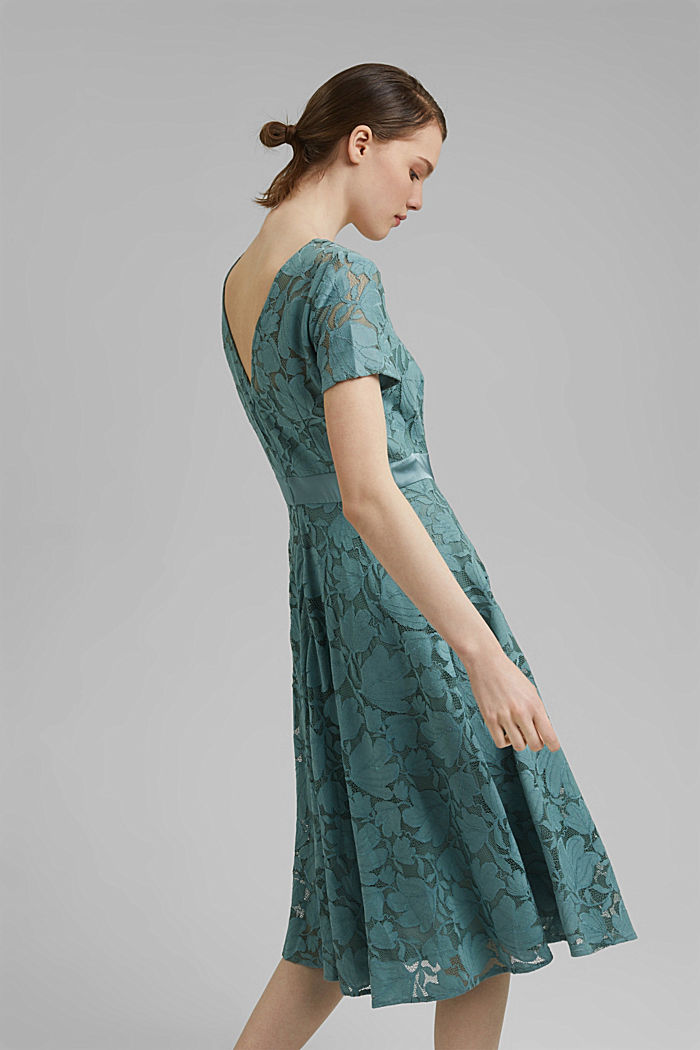 Floral lace dress, DARK TURQUOISE, detail image number 2