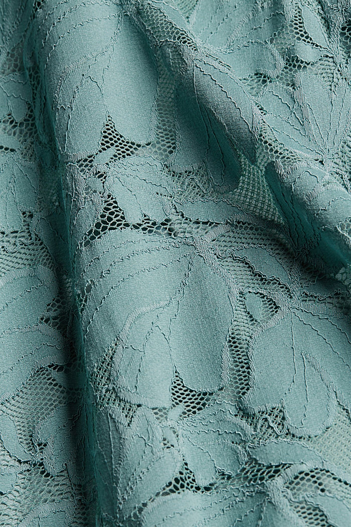 Floral lace dress, DARK TURQUOISE, detail image number 4