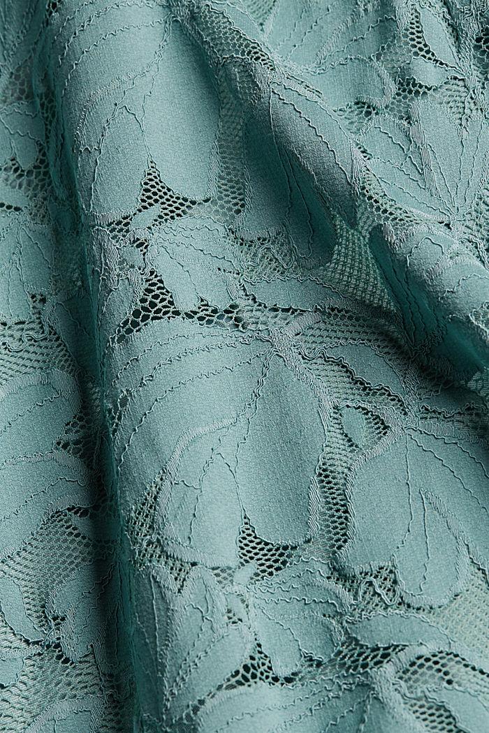 Jurk van gebloemde kant, DARK TURQUOISE, detail image number 4