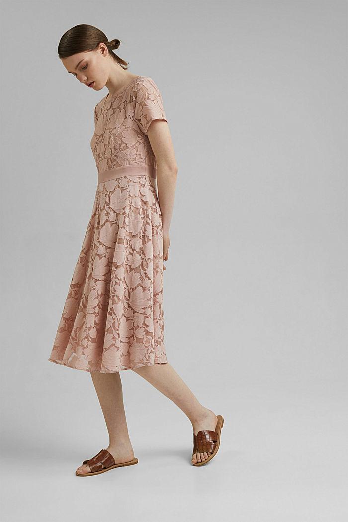 Vestido en encaje floral, NUDE, detail image number 4