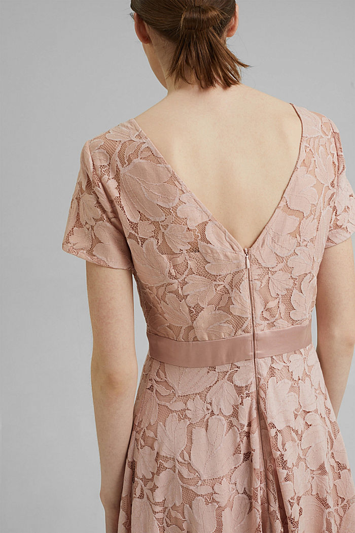 Floral lace dress, NUDE, detail image number 3
