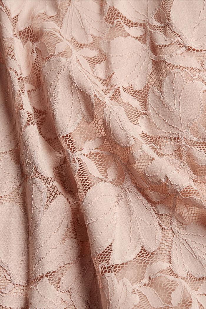 Vestido en encaje floral, NUDE, detail image number 5