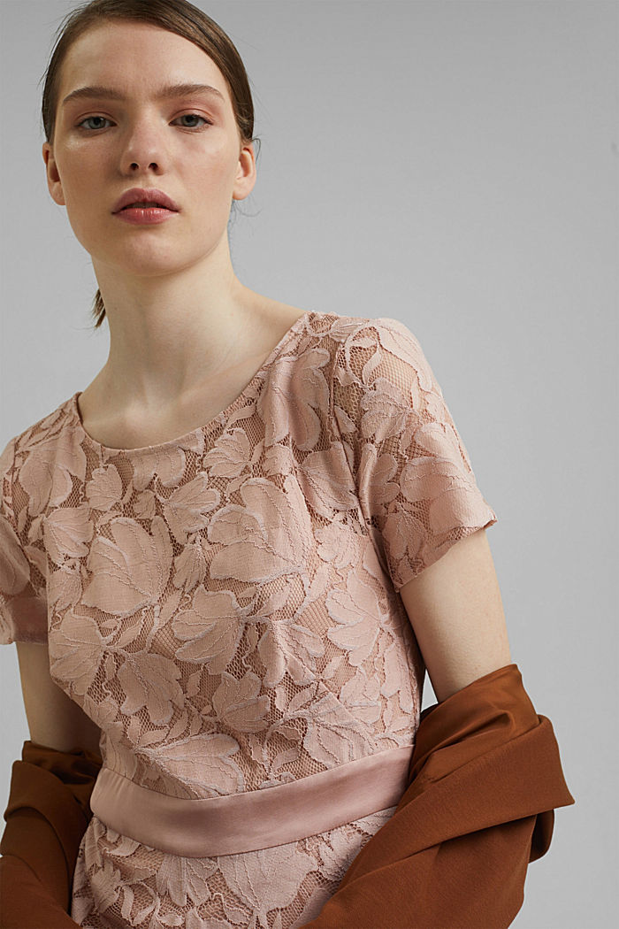 Floral lace dress, NUDE, detail image number 6