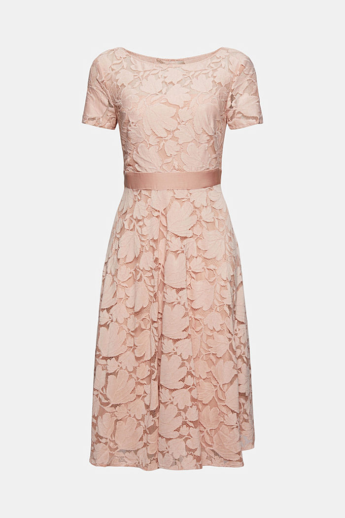 Floral lace dress, NUDE, overview