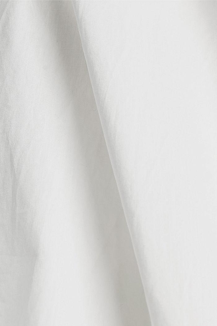 Robe longueur midi à volants en coton, WHITE, detail image number 4