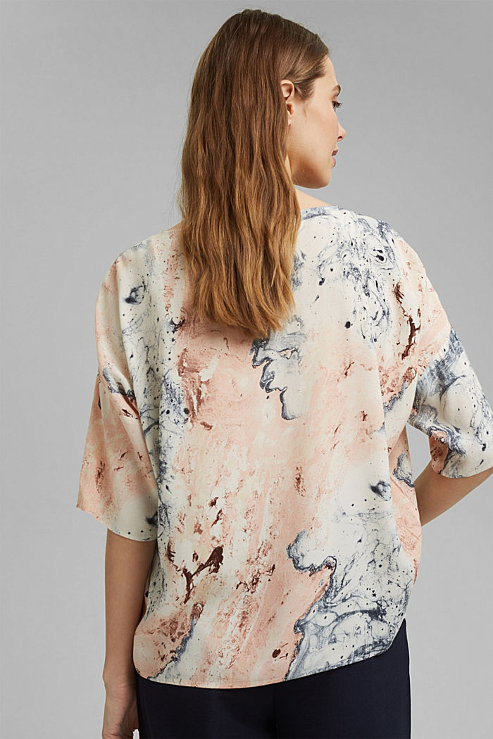 Bluse mit Marmor-Print LENZING™ ECOVERO™, DUSTY NUDE, detail image number 3