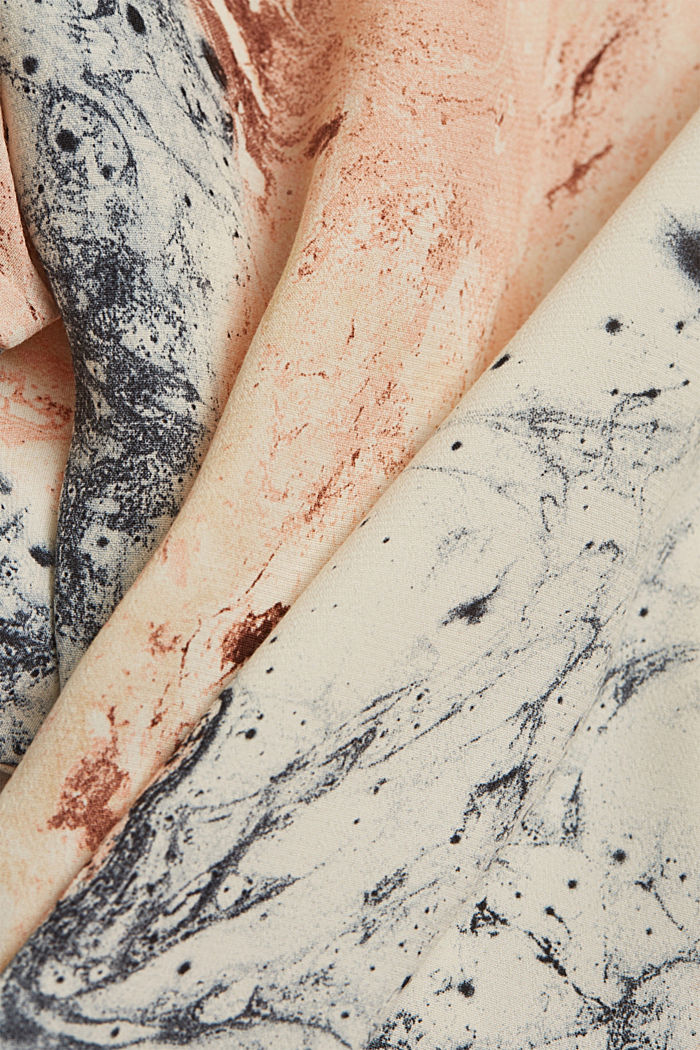 Bluse mit Marmor-Print LENZING™ ECOVERO™, DUSTY NUDE, detail image number 4