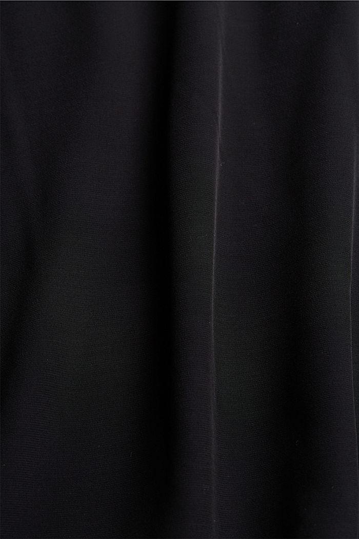 Kurzarm-Bluse mit LENZING™ ECOVERO™, BLACK, detail image number 4