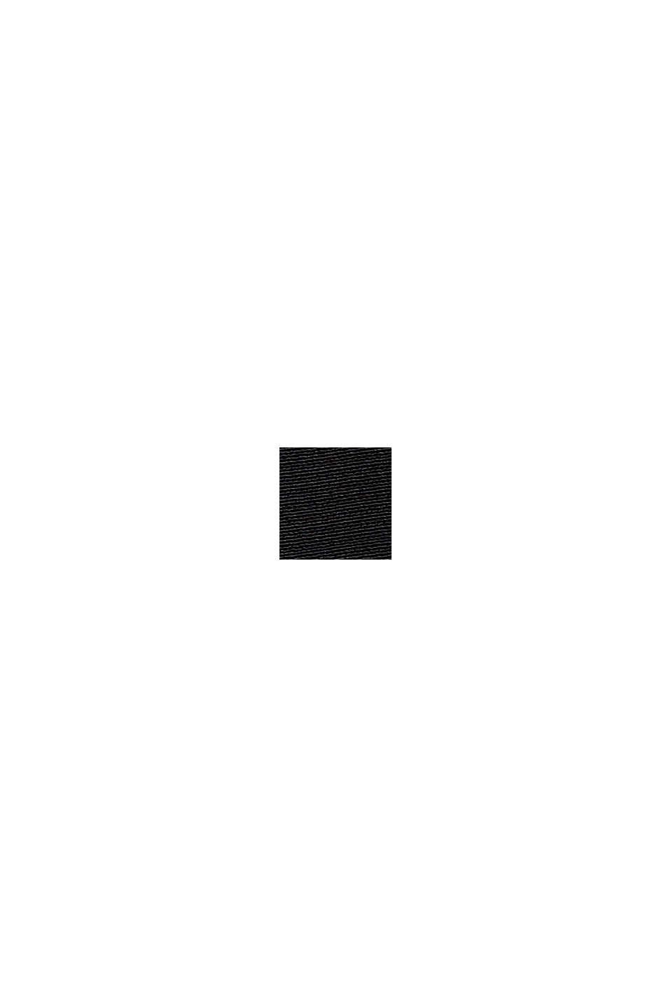 Kurzarm-Bluse mit LENZING™ ECOVERO™, BLACK, swatch