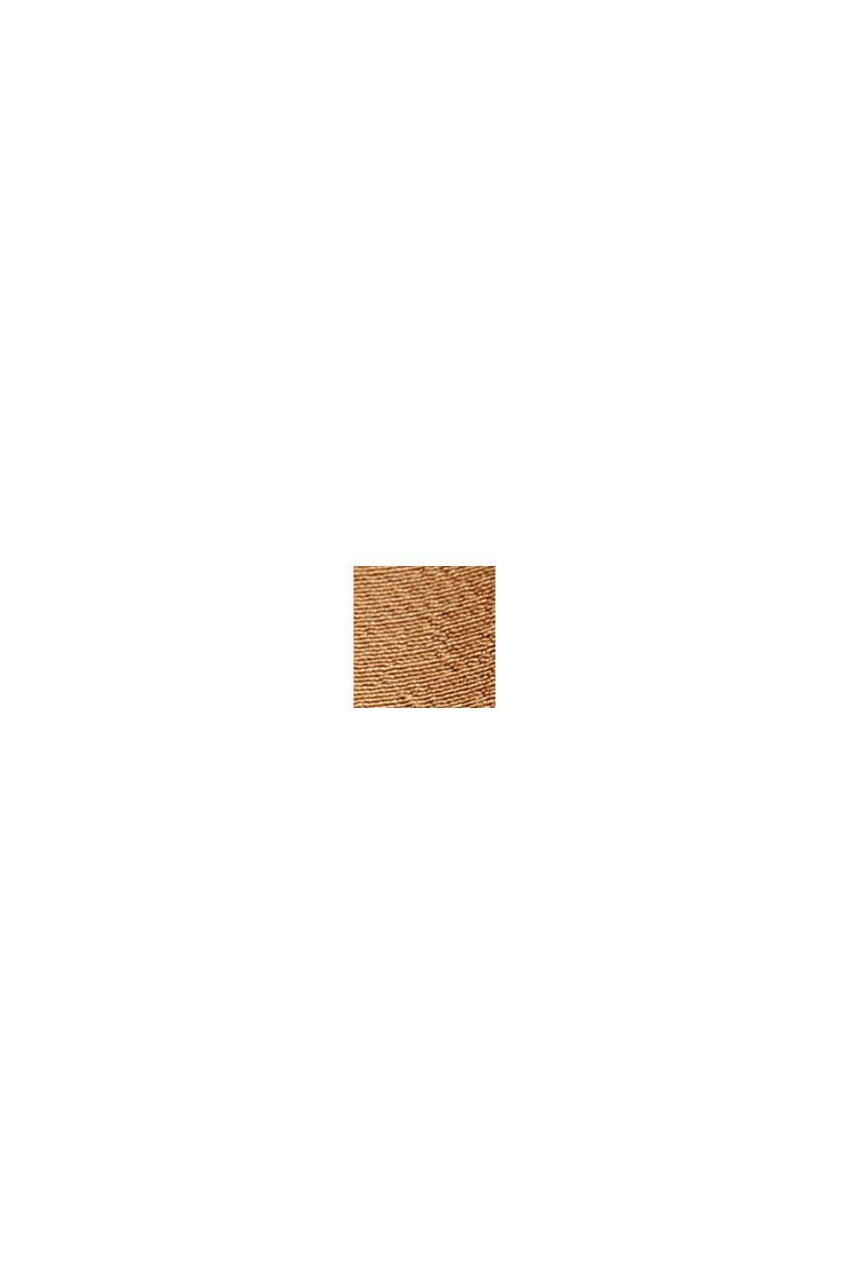 Kurzarm-Bluse mit LENZING™ ECOVERO™, BARK, swatch