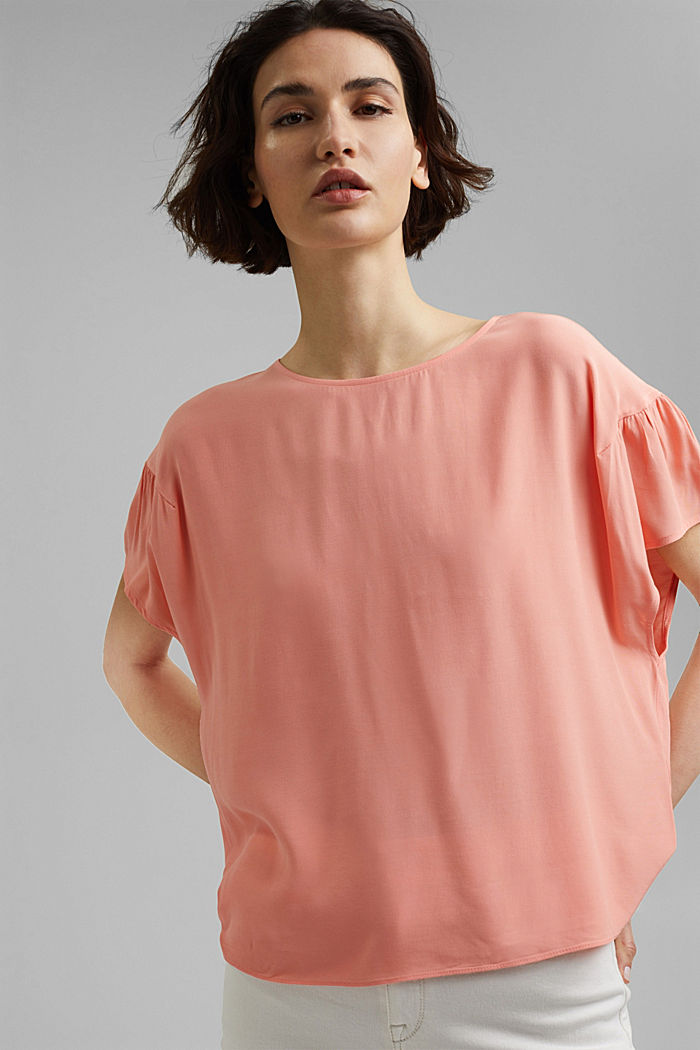 Short sleeve blouse with LENZING™ ECOVERO™