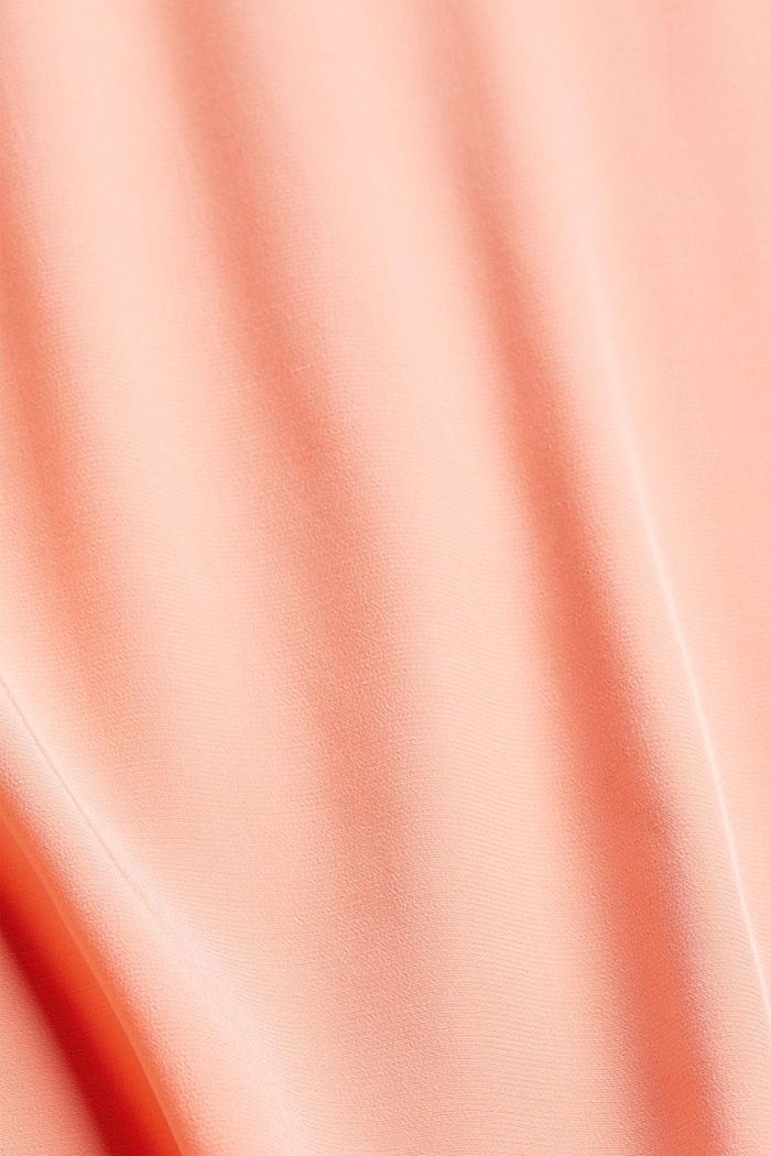 Kurzarm-Bluse mit LENZING™ ECOVERO™, SALMON, detail image number 4