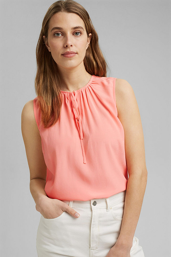 Blouse top with ties