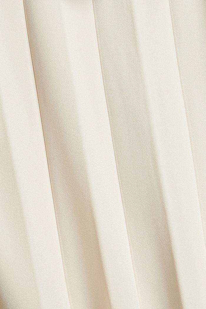 Halenka s vázačkou a plisovanými sklady, CREAM BEIGE, detail image number 4