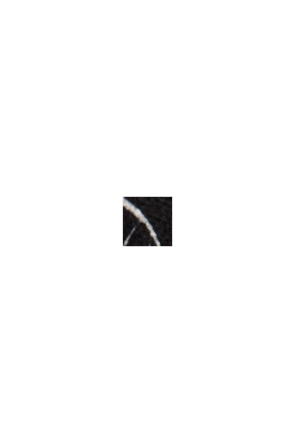 Top à bretelles orné d'un imprimé, LENZING™ ECOVERO™, BLACK, swatch