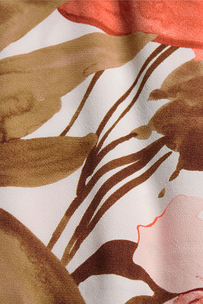Blousetop met print en LENZING™ ECOVERO™, LIGHT PINK, detail image number 4