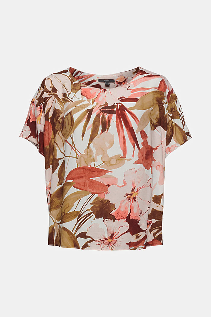 Printed blouse top with LENZING™ ECOVERO™