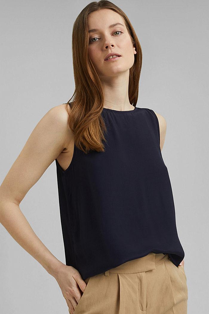 Top façon blouse fluide de style basique