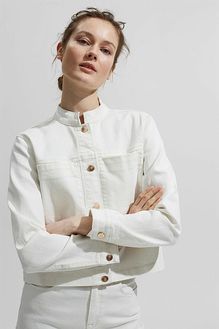 Veste en jean en coton biologique à teneur en stretch