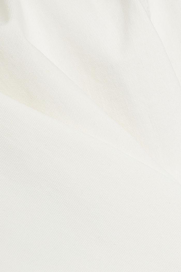 Denim jack van biologisch katoen met stretch, OFF WHITE, detail image number 4