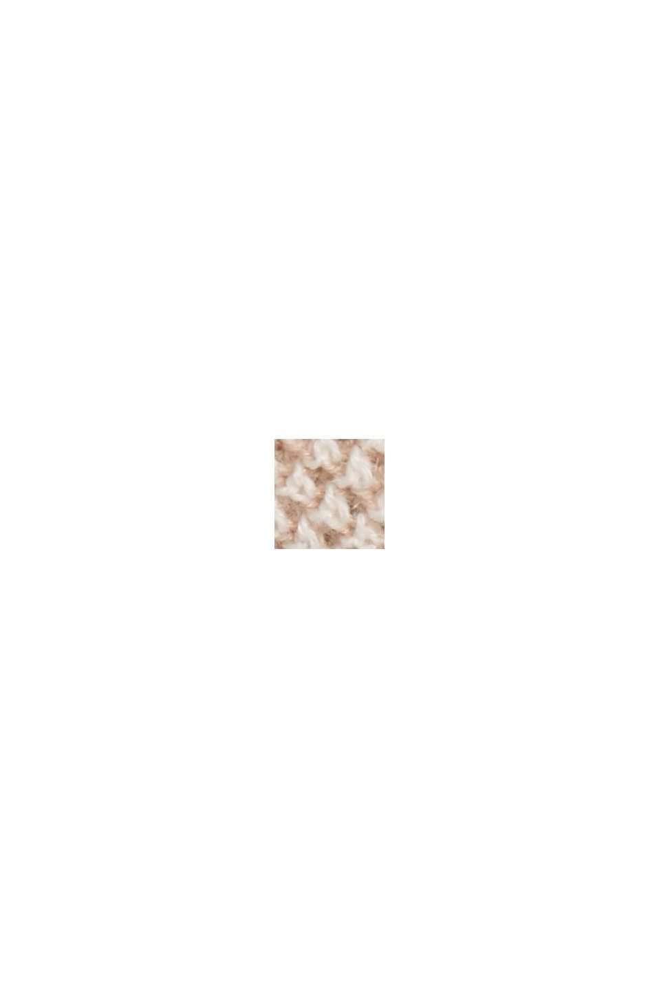 Linen blend: textured, short-sleeved jumper, LIGHT BEIGE, swatch