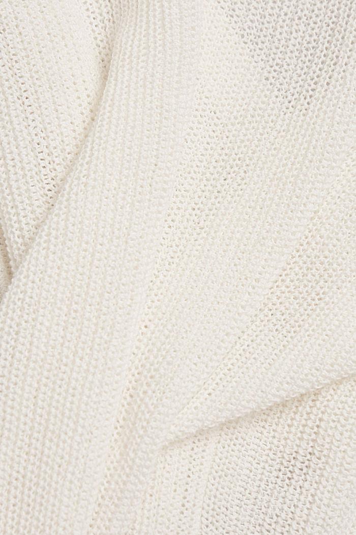 Met linnen: luchtig gebreid vest, OFF WHITE, detail image number 4