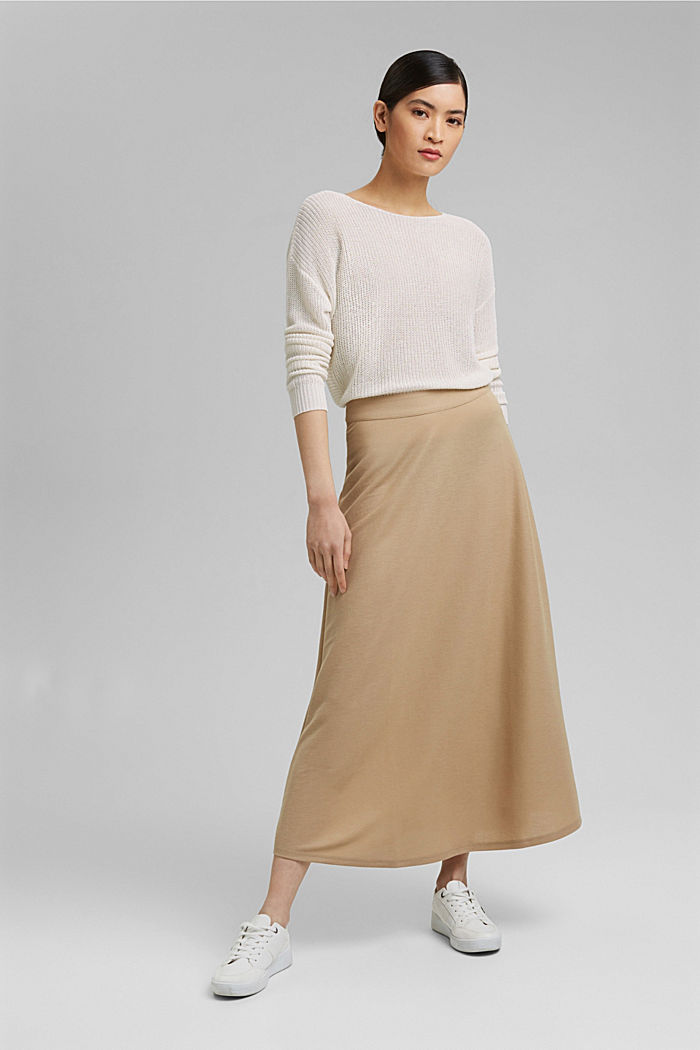 Linen blend: airy knit jumper, OFF WHITE, detail image number 1