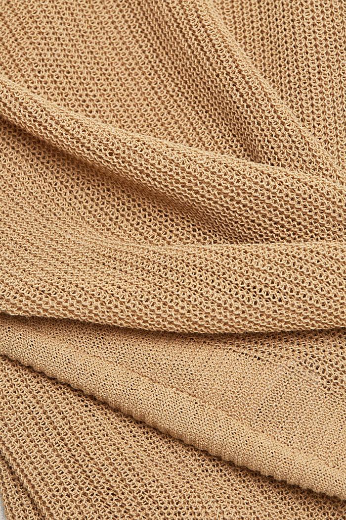 Met linnen: luchtig gebreide trui, SAND, detail image number 4