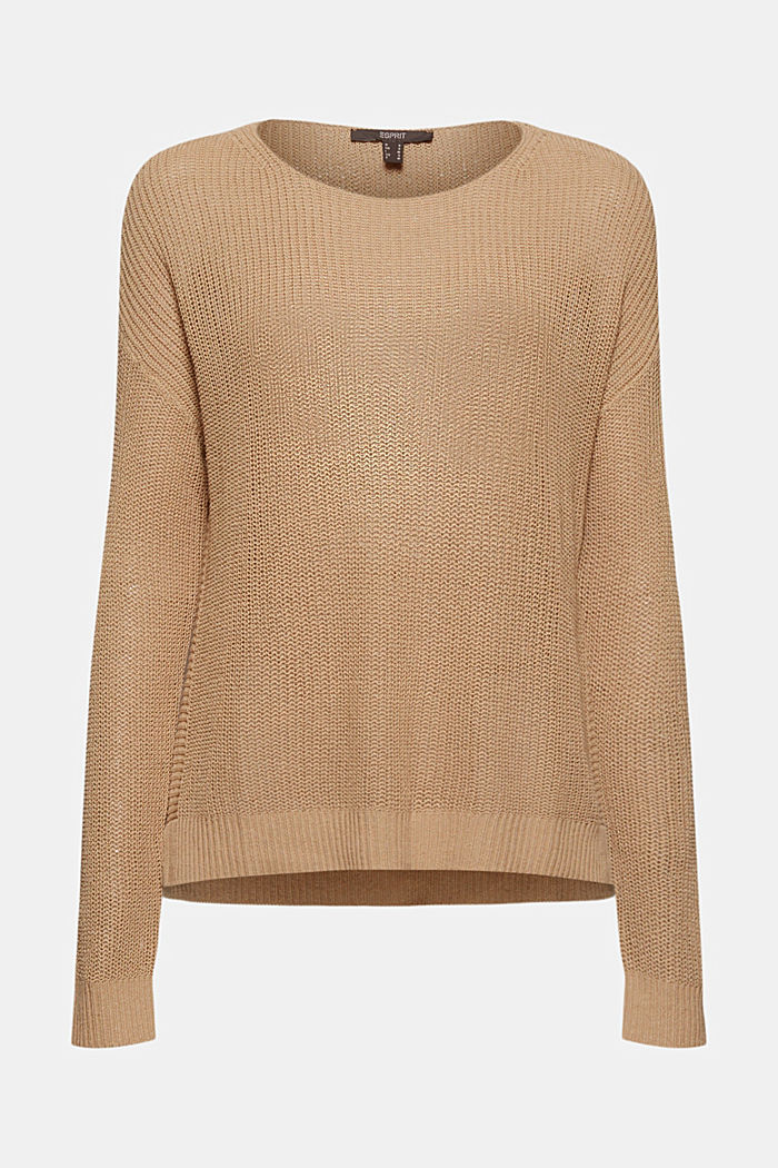 Linen blend: airy knit jumper