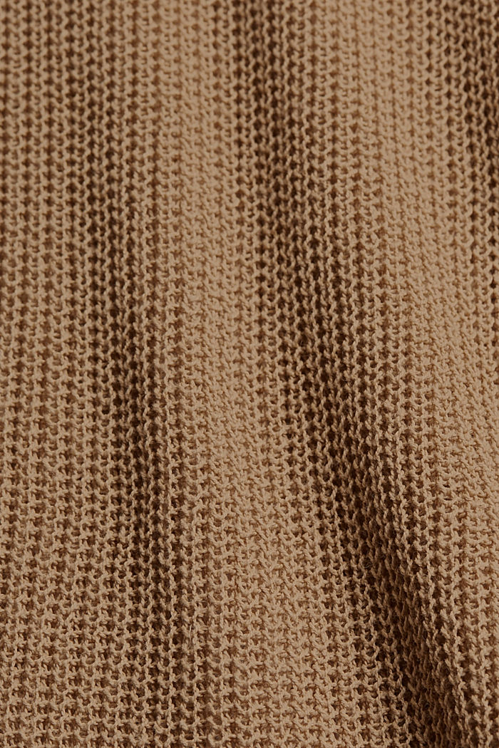Con lino: chaleco con escote en pico, SAND, detail image number 4