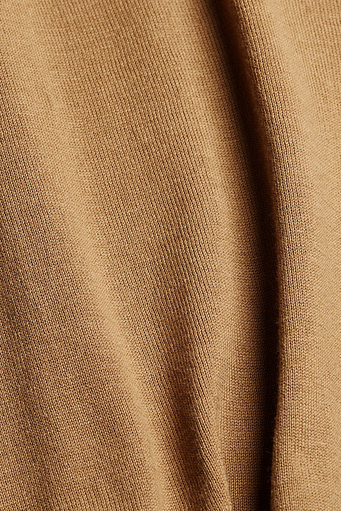 Knitted top with LENZING™ ECOVERO™, BARK, detail image number 4